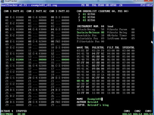 Making Commodore 64 music with Goattracker: part 2