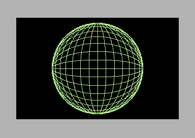 The prospective drawing of a sphere coded in 6502 assembly language