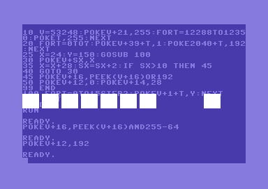 Programming sprites on the Commodore 64, a simple tutorial using BASIC V2