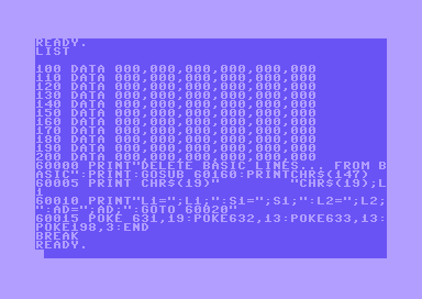 Commodore 64 keyboard buffer tricks: deleting and creating BASIC lines from BASIC